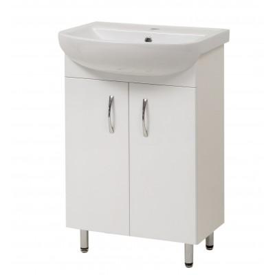 """Тумба для ванной комнаты на ножках """"Артеко-50"""" белая Сансервис в комплекте с раковиной """"Артеко-50"""""""
