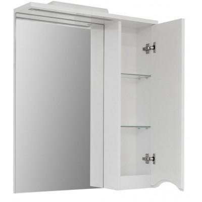 """Зеркало для ванной комнаты """"Марсель-60"""" белое с подсветкой."""