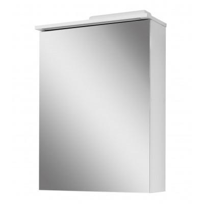 """Зеркальный шкаф в ванную комнату 60 см. """"Трио-60"""" белый с подсветкой Сансервис."""