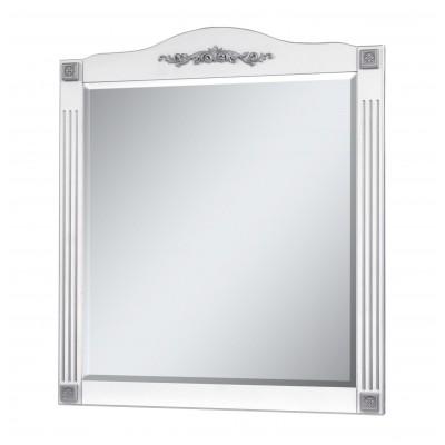 "Зеркало для ванной комнаты ""Романс-100"" белое (серебряная/золотая патина)"