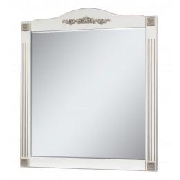 "Зеркало для ванной комнаты ""Романс-80"" белое (серебряная/золотая патина)"