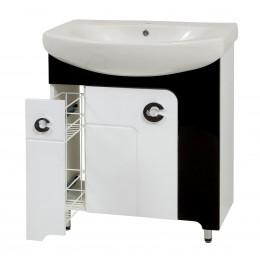 """Тумба для ванных комнат на ножках  """"Элиза-70"""" белая/черная/красная Сансервис в комплекте с раковиной """"RUNA-70"""""""