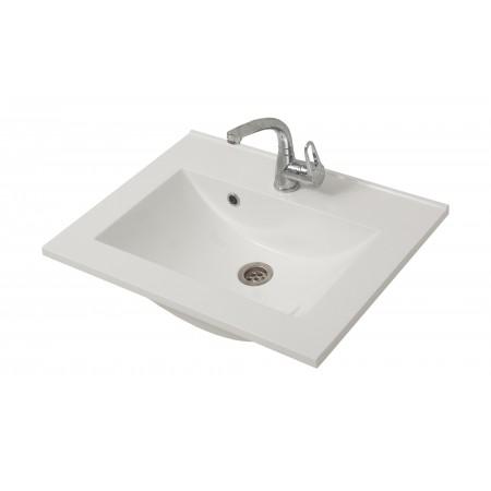 """Раковина """"Элит-60G"""" белая на тумбу для ванной комнаты"""