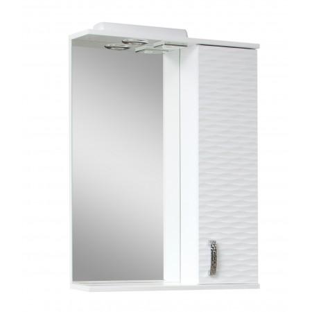 """Зеркало для ванной комнаты """"3D-60"""" белое с подсветкой"""
