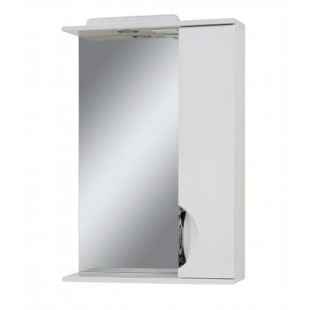 "Зеркало для ванной комнаты ""Лаура-55"" белое с подсветкой"