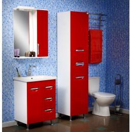 """Зеркало для ванной комнаты """"Лаура-60"""" белое/красное/черное"""