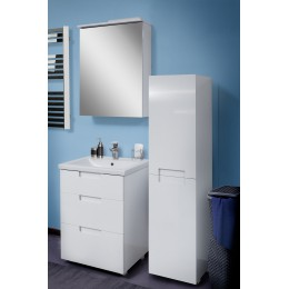 """Комплект мебели для ванной комнаты """"Трио"""" белый (тумба с раковиной 60 см., зеркало 60 см., пенал)"""