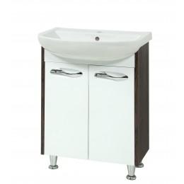 """Тумба для ванной комнаты """"Сириус-60"""" винтаж на ножках Сансервис в комплекте с раковиной """"Артеко-60"""""""