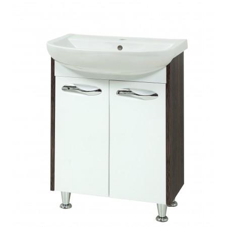 """Тумба для ванной комнаты на ножках """"Сириус-60"""" винтаж с раковиной """"Артеко-60"""""""