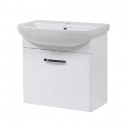 """Тумба подвесная для ванной комнаты """"Артеко-60"""" белая Сансервис в комплекте с раковиной """"Артеко-60"""""""