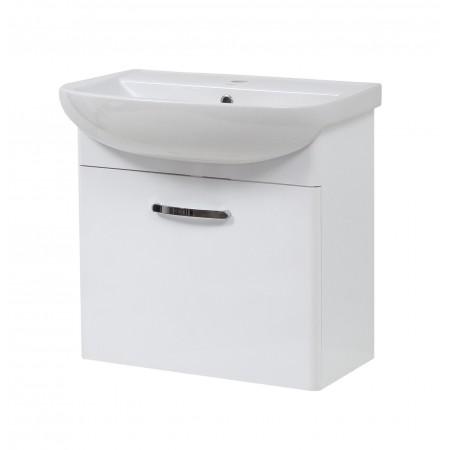 """Тумба подвесная для ванной комнаты """"Артеко-60"""" белая с раковиной """"Артеко-60"""""""