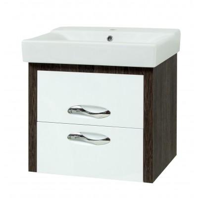 """Тумба для ванной комнаты подвесная """"Сириус-60-LUX"""" винтаж Сансервис в комплекте с раковиной """"COMO-60"""""""