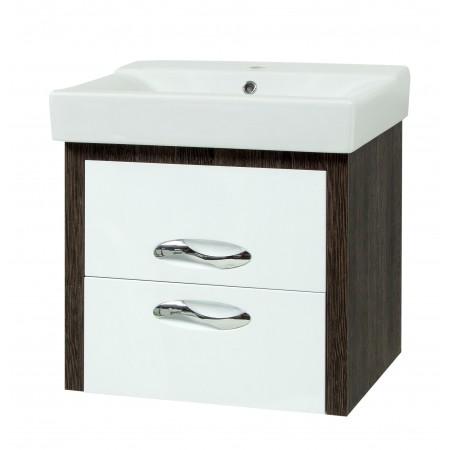 """Тумба для ванной комнаты подвесная """"Сириус-60-LUX"""" винтаж с раковиной """"COMO-60"""""""