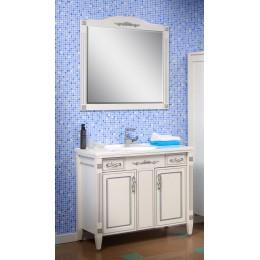 """Тумба с раковиной и зеркало для ванной комнаты """"Романс"""" 100 см. (патина) Сансервис"""