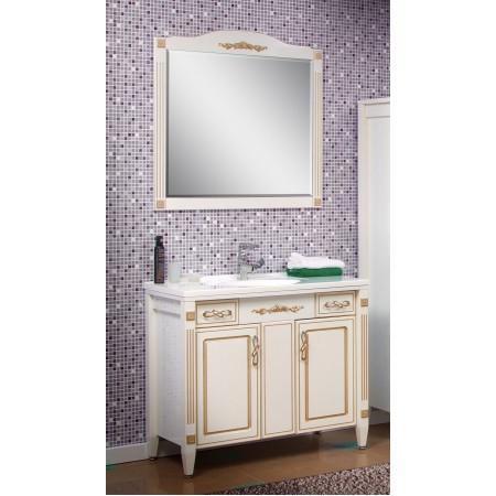 """Тумба с раковиной и зеркало для ванной комнаты """"Романс"""" 100 см. (патина)"""