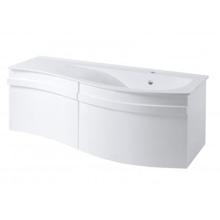 """Тумба для ванной комнаты подвесная """"Хвыля-110"""" белая с раковиной """"Хвыля-110"""""""