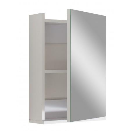 """Зеркало для ванной комнаты 40 см. """"Оби"""" белое."""