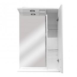 """Зеркало для ванной комнаты """"3D-55"""" белое с подсветкой"""
