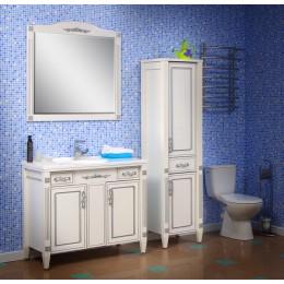 """Комплект мебели для ванной комнаты """"Романс"""" 100 см. (тумба с раковиной 100 см., зеркало 100 см., пенал)"""