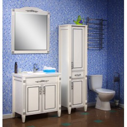"""Комплект мебели для ванной комнаты """"Романс"""" 80 см. (тумба с раковиной 80 см., зеркало 80 см., пенал)"""