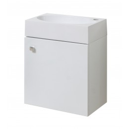 """Тумба подвесная для ванной комнаты """"Оби-45"""" белая комплектуется умывальником """"Оби-45"""""""