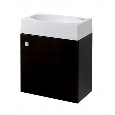"""Тумба для ванной комнаты подвесная """"Оби-45"""" черная Сансервис комплектуется умывальником """"Оби-45"""""""