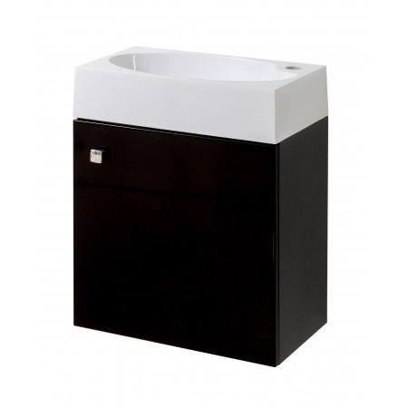"""Тумба для ванной комнаты подвесная """"Оби-45"""" черная Сансервис комплектуется умывальником """"Оби-45""""."""