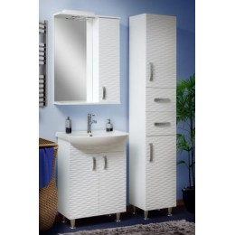 "Пенал для ванной комнаты ""3D"" белый 35 см."