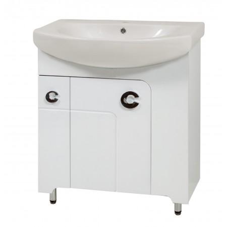 "Тумба для ванных комнат на ножках ""Элиза-70"" белая/черная/красная с раковиной ""RUNA-70"""