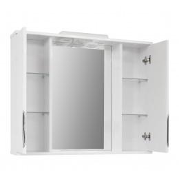 """Зеркало для ванной комнаты """"Лаура-85"""" белое"""