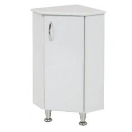 Комод для ванной комнаты угловой К-4 на ножках белый