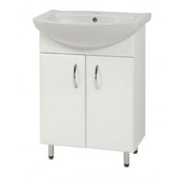 """Тумба для ванной комнаты на ножках """"LR-60"""" белая Сансервис в комплекте с раковиной """"Либра-60"""""""