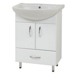 """Тумба для ванной комнаты на ножках """"LR-60-2"""" белая Сансервис в комплекте с раковиной """"Либра-60"""""""