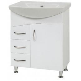 """Тумба для ванной комнаты на ножках """"LR-60-Дуга"""" белая Сансервис в комплекте с раковиной """"Либра-60"""""""