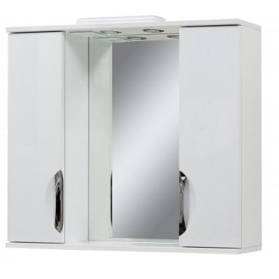 """Зеркало для ванной комнаты """"Лаура-100"""" белое"""