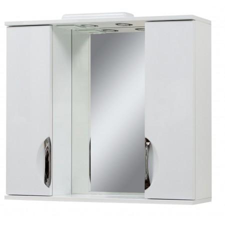 "Зеркало для ванной комнаты ""Лаура-85"" белое с подсветкой"