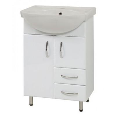 """Тумба для ванной комнаты на ножках """"SL-56"""" белая Сансервис в комплекте с раковиной """"Солас"""""""