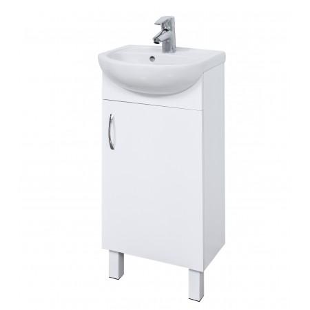 """Тумба для ванной комнаты на ножках """"Соло-40"""" белая с раковиной """"Соло-40"""""""
