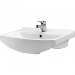 """Тумба для ванной комнаты на ножках """"Церсания-50"""" белая Сансервис в комплекте с раковиной """"Cersania-50"""""""